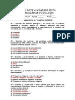 AVALIAÇÃO DE SOCIOLOGIA - 3º ANO / 2º BIMESTRE