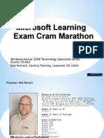 Exam Cram70662 Final