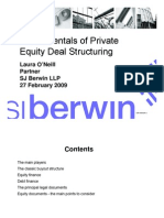 Fundamentals of Private Equity Deal Structuring
