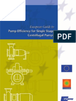 Pump Efficiency for Single Stage Centrifugal Pumps