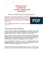 Bob Betts Grace and Mormonese - A Latter-day Saint Response