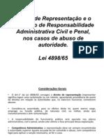 Direito de Representação e o processo de Responsabilidade - Plano de Aula