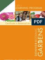 Denver Botanic Gardens' Botanical Art and Illustration Distance Learning Program for Summer and Fall 2011