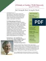 Spring 2011 Master of Divinity Newsletter