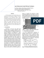 fingerprint image enhancement using filtering techniques