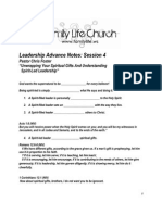 Leadership Advance Notes-Session 4