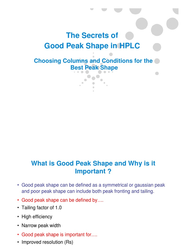 HPLC Peak Shape | High Performance Liquid Chromatography