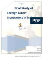 Analytical Study of Foreign Direct Investment in India