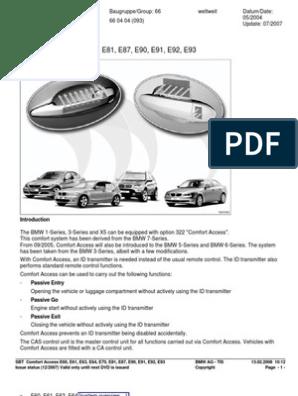 BMW Comfort Access | Trunk (Car) | Motor Vehicle