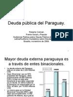 Deuda Publica Del Paraguay y Binacionales Nv08-2