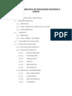 Programa Analitico de Psicologia Filosofia y Logica
