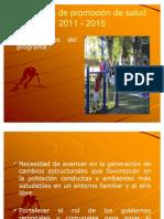 Programa de promoción de salud 2011-2015