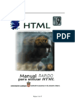 Manual Rapido Para Utilizar HTML