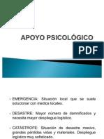 Apoyo psicológico en emergencias