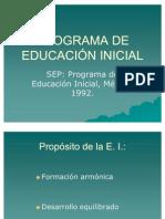 Programa (Esquema Educacion Inicial )