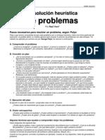 Resolución heurística de problemas 1