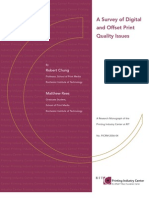A Survey of Digital and Offset Print Quality Issues - 2006