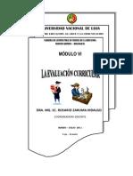 LA EVALUACIÓN CURRICULAR M6 DRA.MG.SC.ROSARIO ZARUMA HIDALGO. 2011