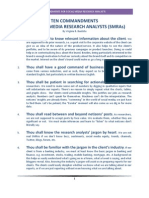 Ten Commandments for Social Media Research Analysts