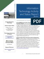 2011 June IT Status Report