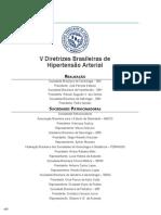 V Diretrizes Brasileiras de Hipertensao Arterial
