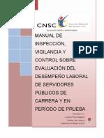 Manual de inspeccion, vigilancia y control de la evaluacion del desempeño
