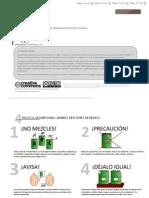Panel informativo para el acopio (almacenamiento) de residuos