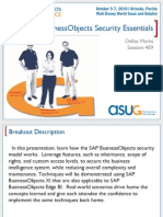 SAP Business Objects Security Essentials (2010 ASUG SAP Business Objects User Conference)