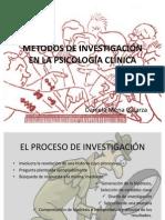 MÉTODOS DE INVESTIGACIÓN EN LA PSICOLOGÍA CLÍNICA