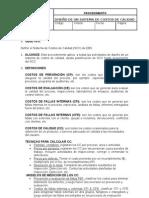 Procedimiento para el diseño de un sistema de costos de calidad