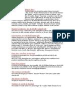 Summary of the Plot or Story