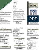 Church Bulletin - June 12th