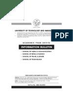 University of Technology & Management - Information Bulletin