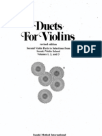 Suzuki - Duets for Violins - Second Violin Parts to Selections From Suzuki Violin School - Vols 1 2 and 3