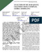 13.Ijaest Vol No 6 Issue No 1 Kinematic Analysis of Six Bar Quick Return Mechanism Using Complex Algebra Modeling 070 076