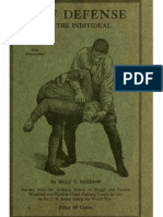 Self Defense for the Individual - Billy Sandow 1919