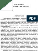 Ciprian - Despre Unitatea Bisericii