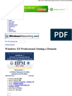 Windows XP Professional Join Domain