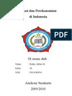 Inflasi Dan Perekonomian Di Indonesia