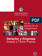 DERyEMP Folleto General Derecho y Empresa