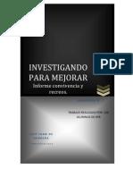 INFORME INVESTIGANDO PARA MEJORAR- CONVIVENCIA