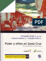 poder y elites en Santa Cruz de la Sierra - Fernando prado, Susana Seleme, Claudia Peña