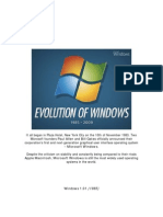Evolution of Microsoft Windows 1985- 2009
