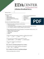 Business Broadband Survey