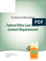 Syntek XFT Federal Ultra-Low Sulfur Content Diesel Requirements