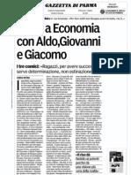 Show ad Economia con Aldo, Giovanni e Giacomo