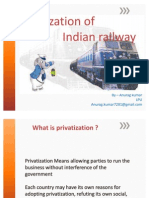 Privatization of Indian Railway