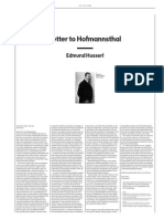 From Husserl to Hofmannsthal