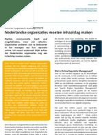 Artikel 'Online Reputatie Management in Nederland