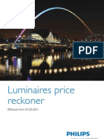 Philips Lighting Price List 2011